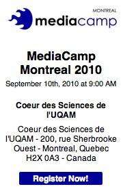 Inscrivez-vous maintenant au MediaCamp Montreal 2010